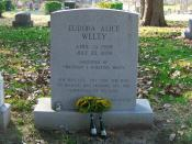 Gravestone of famous author Eudora Welty
