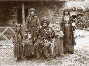 Georgian family of writer Vazha-Pshavela (in the middle, sitting)