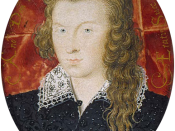 Miniature (painting) (watercolour on vellum on card with three hearts showing on the verso), sometimes thought to have been the dedicatee of Shakespeare's sonnets (1573-1624), 1594. (Fitzwilliam Museum)Museum Accession Number: 3856