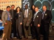 Main Cast of NYPD Blue Season 3, l-r Turturro, Smits, Delaney, McDaniel, Miceli, Clapp, Franz