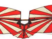 Deutsch: *Nachbau des Hanggleiters von Albrecht Ludwig Berblinger. Mit diesem Fluggerät versuchte er 1811, über die Donau zu fliegen. Der Versuch misslang, weil er nicht wissen konnte, dass über kaltem Wasser ein Auftrieb möglich ist. Im Jahre 1986 wurde