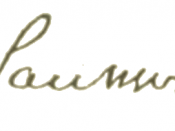 English: Signature of the Swiss linguist Ferdinand de Saussure.