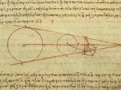 Aristarchus's 3rd century BC calculations on the relative sizes of the Earth, Sun and Moon, from a 10th century AD Greek copy
