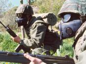 English: Gas masks NBC Greek