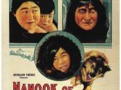 English: Promotional poster for the 1922 documentary Nanook of the North.