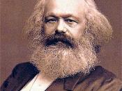 A portrait of Karl Marx.