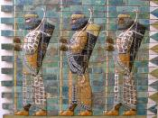 Persian warriors. Pergamon Museum/Vorderasiatisches Museum.