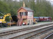 English: Signal Box, Highley Station, Severn Valley Railway. For those who remember the TV adaptation of the ghost story