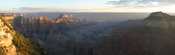A panoramic view of the Grand Canyon from the North Rim. Taken by myself with a Canon 10D and 17-40mm f/4L fireball.