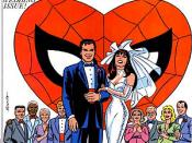 Mary Jane gets married to Peter. Cover to The Amazing Spider-Man vol. 1 Annual #21. Art by John Romita Sr.