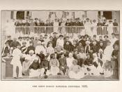 (Image of the delegates to the first meeting of the Indian National Congress in Bombay, 1885.