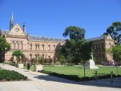 Part of the University of Adelaide campus at North Terrace. (View of Eastern side of the Mitchell Building.)