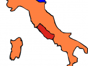 1861: Kingdom of Italy Kgdm Lombardy–Veneto Papal States After the Expedition of the Thousand.