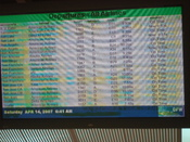 English: I took this photo of a heavily burned-in plasma display at Dallas Fort-Worth airport.