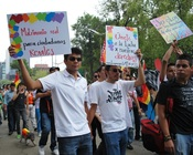 English: Demonstrating for gay rights at the 2009 Marcha Gay in Mexico City