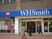 English: WH Smith branch in Hounslow, pretty much identical to almost every WH Smith in the UK, however this one also plays host to Hounslow's main branch of the Post Office.