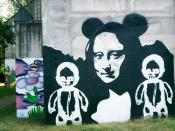 monna lisa - graffiti