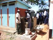 Construction of hand washing unit