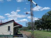 English: Photo of Lowood railway station on the abandoned Brisbane Valley railway line, Queensland.