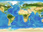 Global Bathymetry DEM With Satellite Landmass