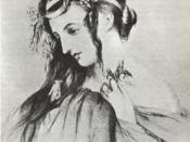 Harriet Smithson, wife of Hector Berlioz, as Ophelia