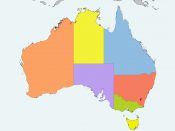 Map of the Australian states / Mapa dels estats australians