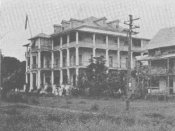 English: Photograph of the old presidential executive mansion, Monrovia, Liberia
