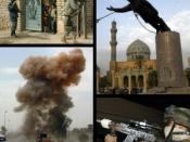 Collage of images taken by U.S. military in Iraq. Compiled by the uploader.