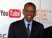 English: President Paul Kagame of Rwanda at the 2010 Tribeca Film Festival.