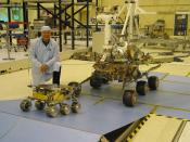 Two generations of Rover: Mars Exploration Rover vs. Sojourner rover.
