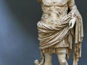 Augustus of Prima Porta, statue of the emperor Augustus in Museo Chiaramonti, Vatican, Rome.