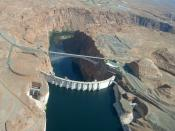 Glen Canyon Dam , Lake Powell, Arizona - USA