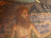English: Sculpture of thinly-clad Cabeza de Vaca on display at the Whitehead Memorial Museum in Del Rio, Texas, as he appeared to Native Americans in the Rio Grande area.