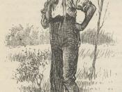 1885 illustration from Mark Twain's Adventures of Huckleberry Finn, captioned