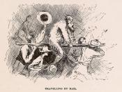 English: Illustration from Adventures of Huckleberry Finn of the King and the Duke being tarred and feathered and ridden on a rail after attempting to perform