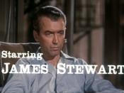 Cropped screenshot of James Stewart from the trailer for the film Rear Window