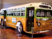 English: The bus on which Rosa Parks refused to give up her seat sparking the Montgomery Bus Boycott, a U.S. civil rights landmark.