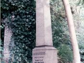 Grave of George Eliot (Mary Anne Evans), the English writer