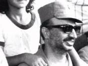 Yasser Arafat in a Southern Lebanon refugee camp.