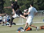 Jarret Bowen lays out for the disc at UNC-Wilmington in October, 2007.