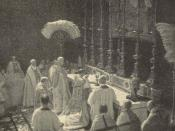 English: Copyright expired photo of Pope Benedict XV (1903-1922) in the year 1914 at the coronation