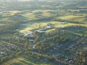 English: Aerail photograph of the University of Western Sydney Penrith Campus, at Kingswood
