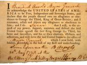 English: Benedict Arnold's Oath of Allegiance, 05/30/1778