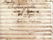 The Eroica Symphony Title Page, showing the erased dedication to Napoleon.