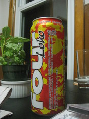 English: One 23.5 ounce can of the Four Loko alcoholic energy drink. 12% ABV.