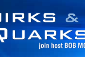 The logo of Quirks and Quarks.