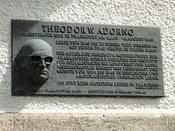 FFM Adorno-Gedenktafel
