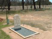 English: The grave of Martin Cherry at Benalla, who died at the siege of Glenrowan, Victoria, Australia. Ned Kelly and his gang had taken refuge in the hotel from the police. Three of the bushrangers were killed, as well as three hostages.