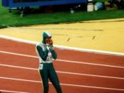 English: Cathy Freeman olympic final 400m Sydney 2000
