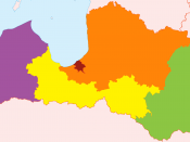 English: Electoral districts of Latvia per Saeima election law (as of date the file was created). Green - Latgale, yellow - Zemgale, purple - Kurzeme, Orange - Vidzeme, Red - city of Riga Latviešu: Saeimas vēlēšanu apgabali sasakaņā ar Saeimas vēlēšanu li